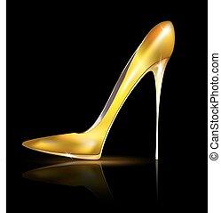 Goldener Schuh.