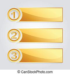 goldenes, modern, banner