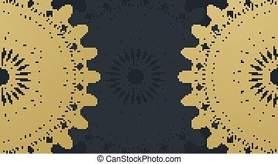 goldenes, muster, mandala, entwerfen farbe, hintergrund