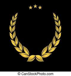 Goldenes Wappen