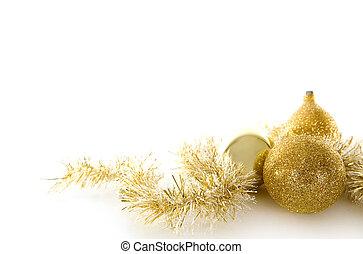 Goldes Weihnachtsdekor.