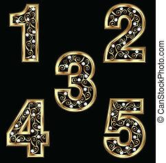 Goldnummern mit Drahtzieher