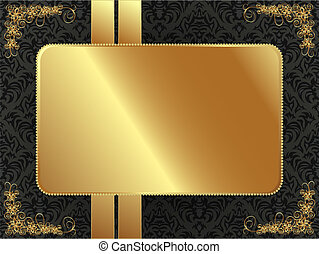 Goldrahmen mit Mustern.
