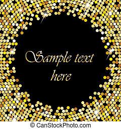 Goldrahmen mit Platz für Ihren Text.