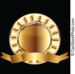 Goldsiegelband-Emblemvektor