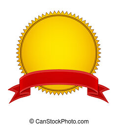 Goldsiegelstempel mit rotem Band
