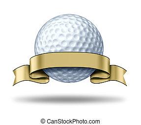 Golf Award mit leerem Goldetikett
