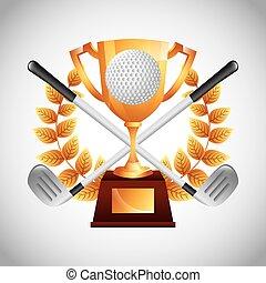 Golf Club Emblem.