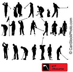 Golf-Silhouettes-Sammlung