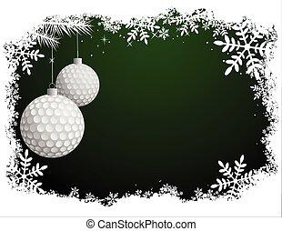 Golf-Weihnachts Hintergrund.