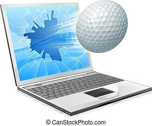 Golfball-Laptop-Konzept