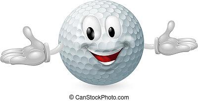 Golfball-Maskottchen