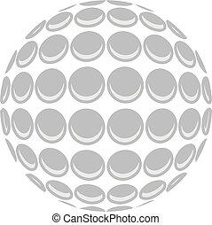 Golfball-Vektor.