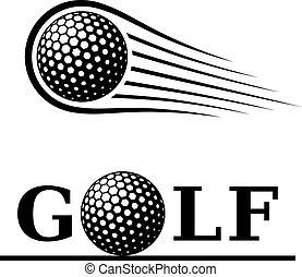 Golfball-Weiterleitungs-Symbol.