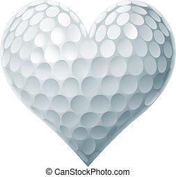 Golfballherz.
