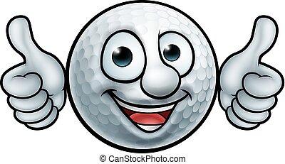Golfballmaskottchen.