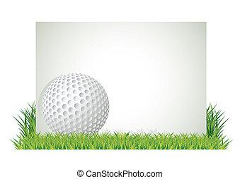golfen, banner