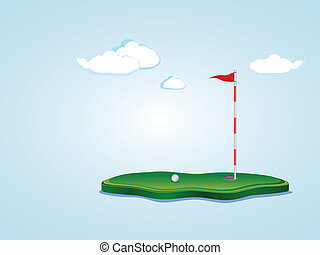 Golffeld.
