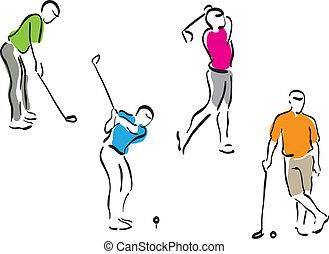 Golfmänner - bereit