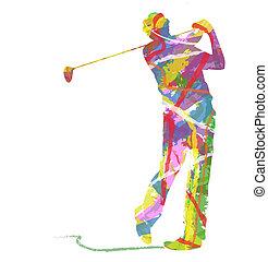 Golfsport Silhouette.