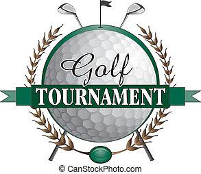 Golfturnier-Clubs Design