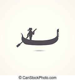 Gondola flache Ikone.