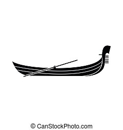 Gondola Ikone, einfache Art.