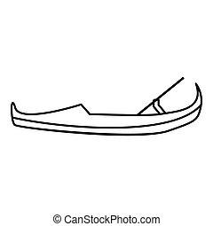 Gondola Ikone, umrissener Stil