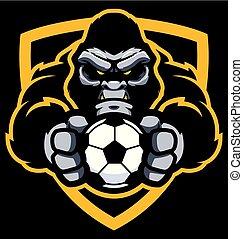 Gorilla-Fußball-Maskottchen.