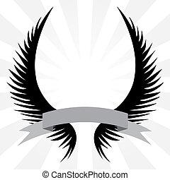 Gothische Flügel wappen