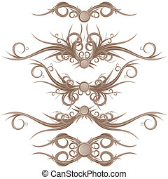 Gotische Grenzen und Designelemente