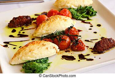 Gourmet italianische Gnocchi-Dinner