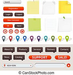 GPS-Navigation und Webseitenelemente