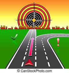 gps, navigationsoffizier, landkarte, straßen