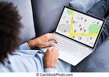 gps, online, durchsuchung, ort, landkarte