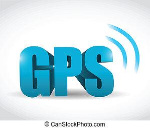 GPS-Signal-Konzept Illustrationsdesign