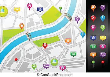 GPS Straßenkarte.