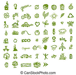 grün, ökologie, design, dein, heiligenbilder