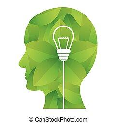 grün, bild, design, ideen, gedanken