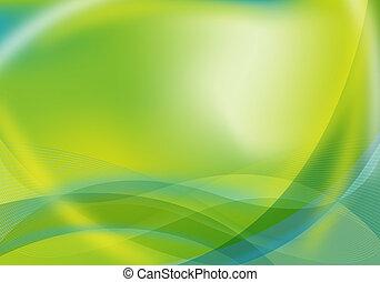 Grün / Blaues Design abfahren