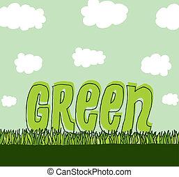 Grün mit Kopierraum / Saubere Umgebung.