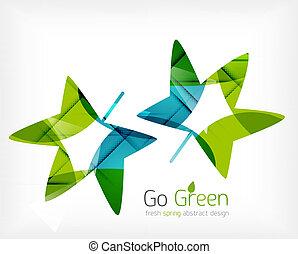 Grün verlässt das Konzept des Naturdesigns
