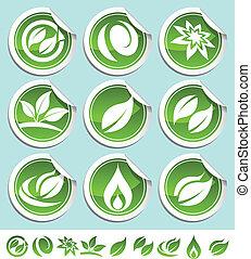 Grüne Öko-Aufkleber