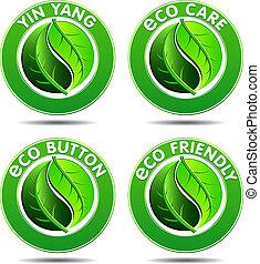 Grüne Öko-Ikonen SET 2