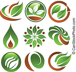 Grüne Öko-Ikonen