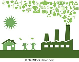 Grüne Ökofabrik.