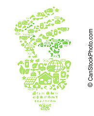 Grüne Ökolampe
