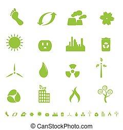 Grüne Ökologie und Umweltsymbol