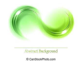 Grüne abstrakte Objekte