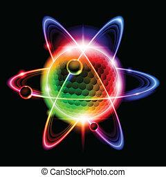 Grüne Atome Elektron